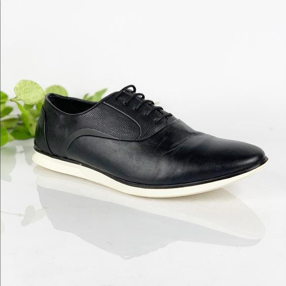 54fd45c6 Zara Man Black Sneaker Faux Leather Oxfords Style